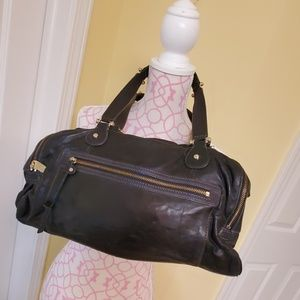 Liz Claiborne leather black shoulder bag NEW